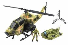 Action Army War Solider Battery Powered Machine Gun Helicopter with Lights Sound