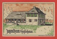 Großschönau Jugendheim LITHO Künstlerkarte BK? Terrasse Schiemann Zittau Ak R?