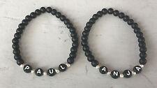 2x DIY Pulsera Brazalete de socios perlas pulsera con nombre deseado personalizada (4)