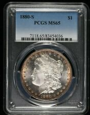 1880-S PCGS MS65 $1 Silver Morgan Dollar Nice Toning 99c NO RESERVE  Witter Coin