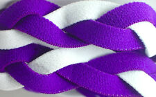 NEW! Purple White Grippy Band Headband Hair Sport Soccer Softball Stretchy Sweat