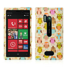 For Nokia Lumia 928 Rubberized HARD Case Snap On Phone Cover Accessory Fancy Owl
