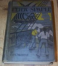 Peter Simple by Captain Marryat  HB 1899  - MANY B&W ILLUS