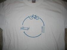 Bike Eat Sleep t-shirt S baby blue cycling graphic tee short sleeve