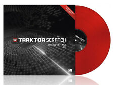 TRAKTOR SCRATCH CONTROL VINYL MK2 MKII Rosso Red VINILE timecode DJ PRO2 DUO2