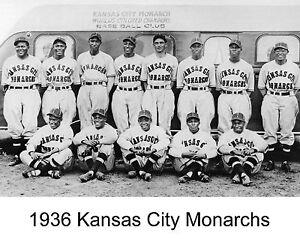 1936 KANSAS CITY MONARCHS KC 8X10 TEAM PHOTO BASEBALL PICTURE NEGRO LEAGUE