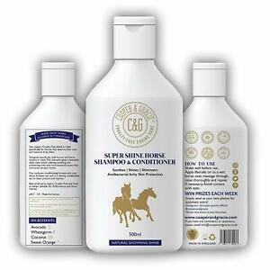Horse Super Shine Shampoo and Conditioner Powerful Organic Natural Equine 500ML