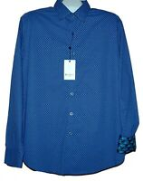 Robert Graham Blue  Polka Dot Cotton Men's Shirt Sz XL Classic Fit $198