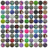 10 x 20mm Mix Colour Miracle Beads Acrylic Round Beads Illusion Jewellery F77