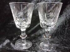 More details for 2 edinburgh crystal lrg wine glasses, 'star of edinburgh', armorial eagle', c