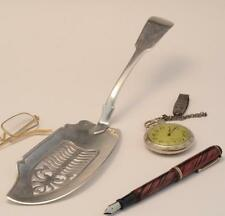 IRISH STERLING FISH SERVER DUBLIN 1822 by STEPHEN BERGIN A BEAUTY PIERCIED RARE