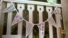 Vintage Summer Party patchwork & Rose Bunting Cross Stitch Chart