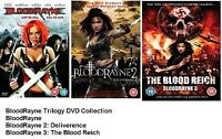 BLOODRAYNE TRILOGY - Part 1 2 3 Rayne Rain Brand New and Sealed UK Region 2 DVD