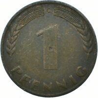 COIN / GERMANY / 1 PFENNIG 1950    #WT19350