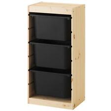 IKEA TROFAST Regal Regalrahmen Kiefer 44x30x91 mit Boxen schwarz Aufbewahrung