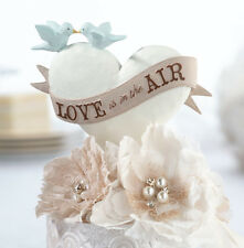 Love Is In The Air Resin Heart Wedding Cake Pick Cake Topper