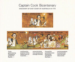"AUSTRALIA  Scott 482a  MNH F-VF ""Captain Cook Bicentenary""  1970 issue  IMPERF"