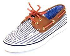 Sperry Top-Sider classic Seersucker Bahama loafers Women's Size 6.5