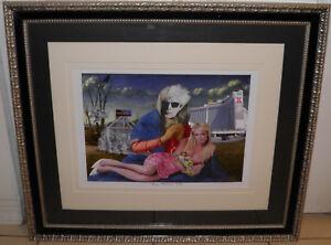 Andy Warhol Paris Hilton POP MOMMA #37 Framed 25x29 Signed Twice Collage Art BIN