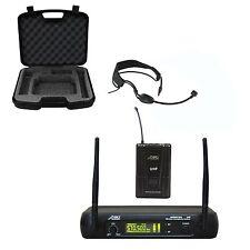 Audio2000 6073DU518 UHF Headband Headset Wireless Microphone for Aerobic & Zumba