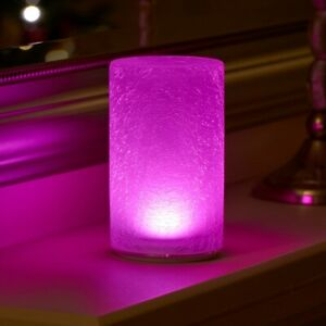 Auraglow Rechargeable Cordless Wireless Colour Changing LED Table Lamp – CRACKLE