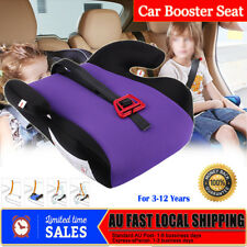 Car Booster Seat Safe Sturdy Baby Toddler Kid Children Purple Fit 3 To 12 Years
