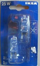 NEW. IKEA, 2 Pack, G9 Light (245 Lumens) Bulbs. 25W 120V  Model 001.008.20.