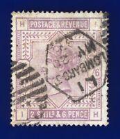 1884 SG178 2s6d Lilac K10(1) IH Lombard St MY 20 87 Good Used CV-£160 cdtk