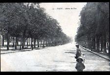 DIJON (21) Avenue du PARC animée , cliché début 1900