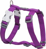 Red Dingo Plain PURPLE Harness for Dog or Puppy | Sizes XS - LG | FREE P&P