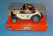 2009 New Ray Power Up Pull Back Police Roadster New In Box