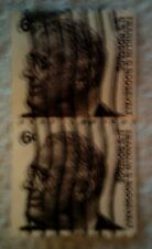 1967 Scott 1298 U. S. Frankin D. Roosevelt two used 6 cent stamps off paper