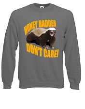 Honey Badger Don't Care / Give A F**k Meme Jumper Sweatshirt Sweats Top AE93