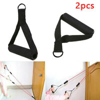 2*Tricep Rope Cable Equipment Handle Bar Resistance Gym Exercise Training Band
