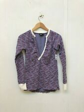 VANS Of The Wall Women's Print Henley Cardigan - Small - Purple - New
