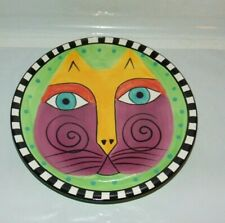 New listing Laurel Burch Cat Plate 1998 8 Inches