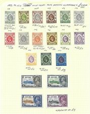 Hong Kong Stamp Collection 1903 - 1935 mm. SG cat: £330+