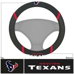 Fanmats NFL Houston Texans Embroidered Steering Wheel Cover Delivery 2-4 Days