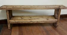 handmade rustic wooden reclaimed bench / shoe storage