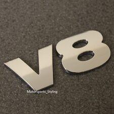 Chrome V8 Posteriore avvio Badge Emblema Decalcomania Auto Furgone Posteriore PORTELLONE FENDER PARAFANGO LATO V8