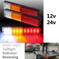 2x 12-24V 20 LED Ute Rear Trailer Tail Lights Caravan Truck Boat Indicator