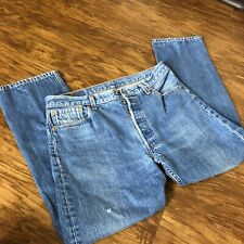 Levi's 501XX Men's Button Fly Blue Jeans Size 34 X 30 Red Tab Made in USA
