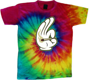 Sale: Men's XL -  Funny Weed Pot Tie Dye Stoner T-shirt Clothing Apparel