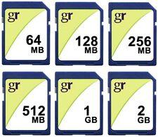 64MB 128MB 256MB 512MB 1GB 2GB SD Secure Digital Cards Flash Memory Camera Card