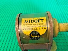 Vintage APSCO Midget Pencil Sharpener Manual Desk Mounted USA