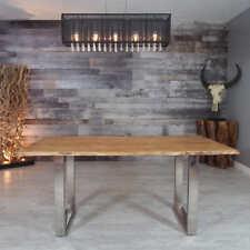 Esstisch Küchentisch 180x90cm Baumkante Massiv Holz Tisch Holztisch Akazie 26mm