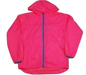 Mac In A Sac Fluro Bright Pink Zip Hooded Jacket Waterproof Unisex Size Euro 40