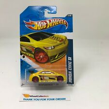 Honda Civic Si #117 * Yellow * 2011 Hot Wheels * C40