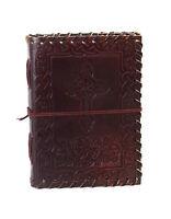 Leder Tage- Notizbuch Kreuz Bibel Bewusstsein Journal Unterwegs Vintage Indien