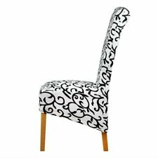 White And Black Long Back Size Chair Cover Checked Pattern Latest Look Designed